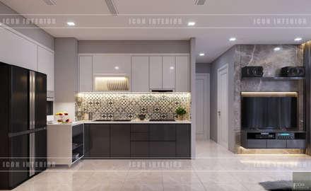 THIẾT KẾ CĂN HỘ VINHOMES NHẸ NHÀNG, TINH TẾ cùng ICON INTERIOR:  Nhà bếp by ICON INTERIOR