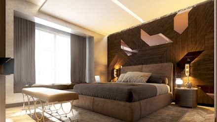 ALMANSOUR RESIDENCE: modern Bedroom by Belal Samman Architects