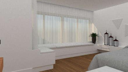 Ventanas de madera de estilo  por Thaiad Pinna -Studio de Arquitetura e Interiores