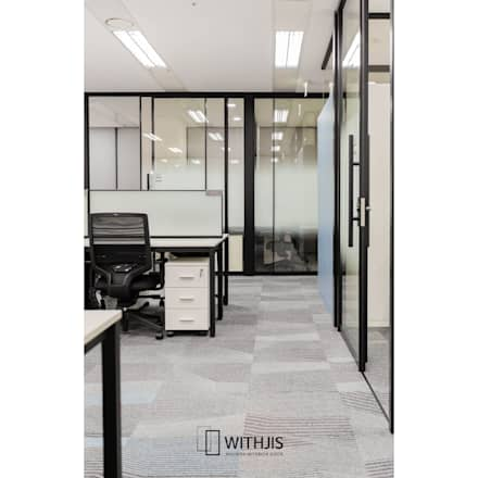 유리 고급 인테리어 파티션월시스템: WITHJIS(위드지스)의  문