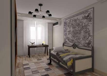 Дизайн-проект квартиры в экостиле, комната подростка: Спальни для мальчиков в . Автор – STUDIO DESIGN КРАСНЫЙ НОСОРОГ