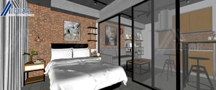 Rustic Vibe at Azure Urban Residences: rustic Bedroom by Idear Architectural Design Consultancy