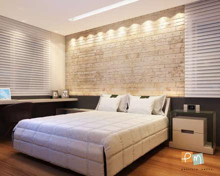 Ipanema: Quartos  por Patrícia Netto Arquitetura & Design