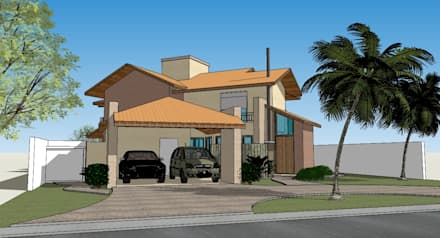 Seu Projeto Arquitetura의  전원 주택