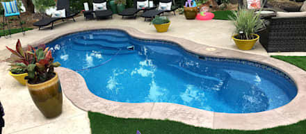 FRP Standard Swimming Pool:  Garden Pool by Scube Creations