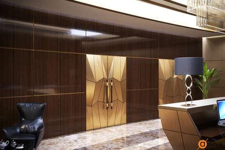 Необычный дизайн входной двери в офисе: Офисные помещения в . Автор – Art-i-Chok