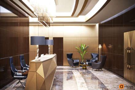 Дизайн зоны ресепшн в офисе: Офисные помещения в . Автор – Art-i-Chok