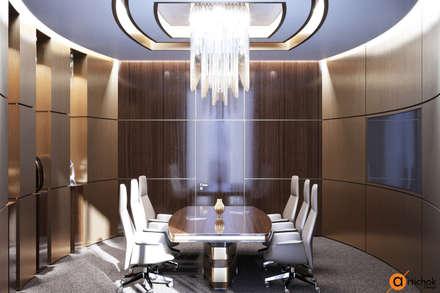 Шпонированное дерево в оформлении переговорной комнаты: Офисы и магазины в . Автор – Art-i-Chok