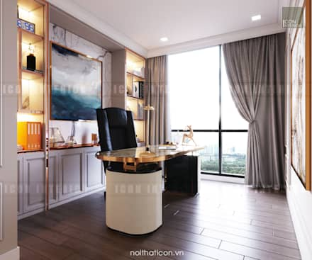 Thiết kế nội thất phong cách Tân Cổ Điển: Nội thất chất lượng - Cuộc sống đẳng cấp:  Phòng học/Văn phòng by ICON INTERIOR