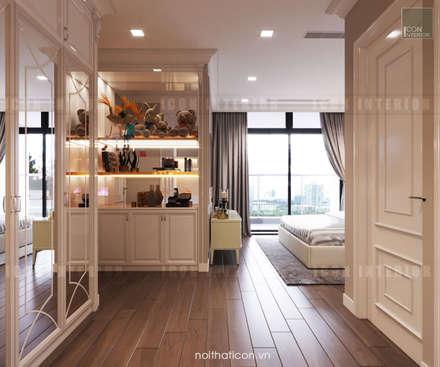 Thiết kế nội thất phong cách Tân Cổ Điển: Nội thất chất lượng - Cuộc sống đẳng cấp:  Phòng ngủ by ICON INTERIOR