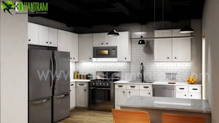 Kitchen design ideas inspiration pictures:  Kitchen units by Yantram Architectural Design Studio