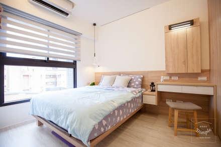 晴天娃娃:  臥室 by 酒窩設計 Dimple Interior Design
