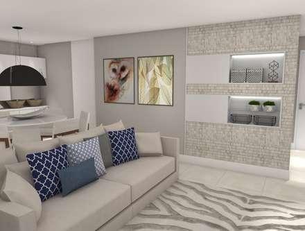 EDIFÍCIO MAYFAR PLAZA : Salas de estar modernas por EX ARQUITETURA E INTERIORES