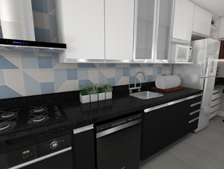 Cucinino in stile  di EX ARQUITETURA E INTERIORES