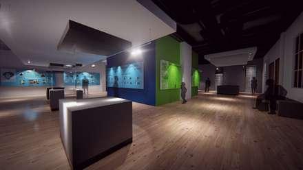 Centros de exhibiciones de estilo  por NATIVAARQUITECTOS E.I.R.L