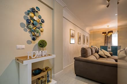 Sala: Salas de estar ecléticas por Sandra Batista Rodrigues
