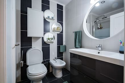 WC: Casas de banho ecléticas por Sandra Batista Rodrigues