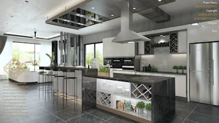 DINING WITH THE DRY KITCHEN: Modern Kitchen By Enrich Artlife U0026 Interior  Design Sdn Bhd