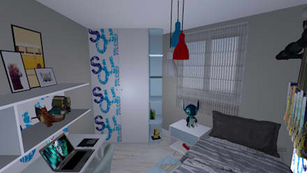 Dormitorio,Infantil: Habitaciones de niños de estilo  de proyectoszeza