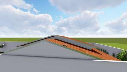 Gable roof by Maisy Melo Arquitetura e Urbanismo