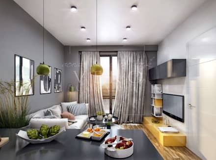 VERO CONCEPT MİMARLIK – Aydın Nazilli Konut: modern tarz Oturma Odası