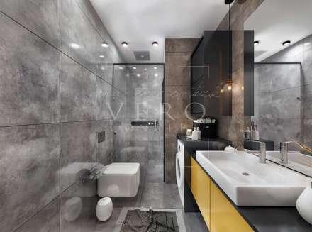 VERO CONCEPT MİMARLIK – Aydın Nazilli Konut: modern tarz Banyo
