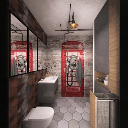 industrial Bathroom by INTUS DeSiGn