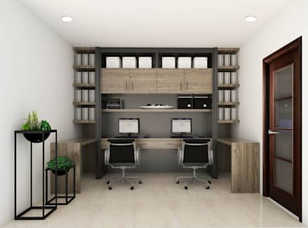Admin Office: minimalistic Study/office by KC INTERIORS