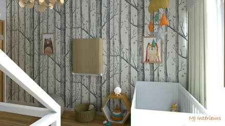 Pour un petit Robin (des bois): Chambre bébé de style  par MJ Intérieurs