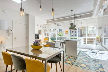 industrial Dining room by Hansen Properties