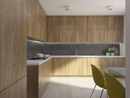 SIŁA SPOKOJU: styl , w kategorii Kuchnia zaprojektowany przez UTOO-Pracownia Architektury Wnętrz i Krajobrazu