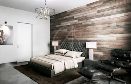 industrial Bedroom by Comelite Architecture, Structure and Interior Design