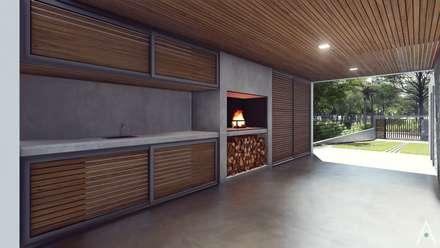 Garajes abiertos de estilo  por Estudio Tava