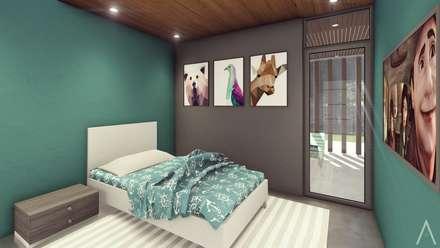 غرفة نوم مراهقين  تنفيذ Estudio Tava