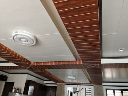 PRIVATE RESORT: minimalistic Dining room by JGA INTERIORS