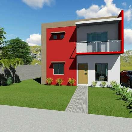 Casas multifamiliares de estilo  por Chg servicios y construcción