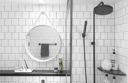 북유럽 감성을 가득 담은 20평대 주택 인테리어: husk design 허스크디자인의  화장실