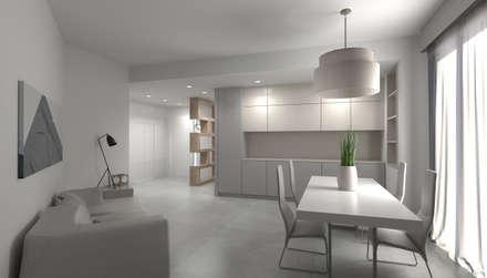 Rendering di Progetto: Soggiorno in stile in stile Minimalista di MGSO architetti