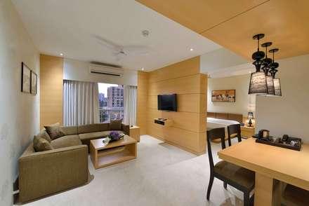 ICICI GUEST HOUSE MUMBAI: modern Living room by smstudio