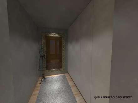 Casa TBSC: Closets minimalistas por RMA - Rui Mourão Arquitecto Unipessoal Lda