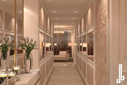 St. Regis hotel apartment:  Corridor & hallway by dal design office