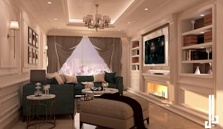 St. Regis hotel apartment: classic Living room by dal design office