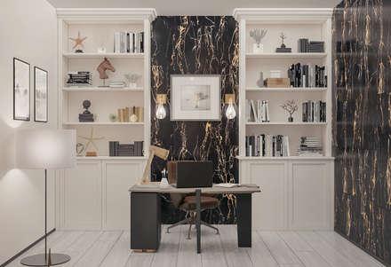 Роскошные апартаменты в современном стиле: Рабочие кабинеты в . Автор – Frandgulo