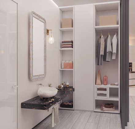 Роскошные апартаменты в современном стиле: Гардеробные в . Автор – Frandgulo