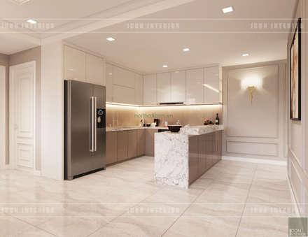 Thiết kế căn hộ Gateway Thảo Điền sang trọng và thanh lịch - Phong cách Tân Cổ Điển:  Nhà bếp by ICON INTERIOR