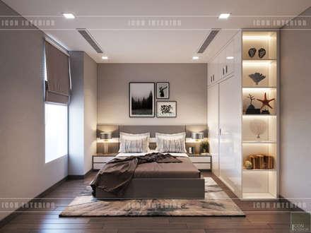Thiết kế căn hộ Gateway Thảo Điền sang trọng và thanh lịch - Phong cách Tân Cổ Điển:  Phòng ngủ by ICON INTERIOR