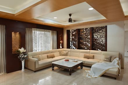 DAHANU- VIJAY GHODAWAT: modern Living room by smstudio