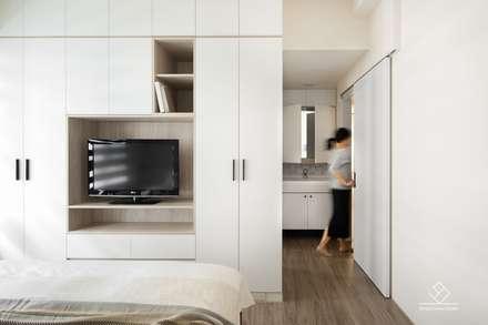 غرفة نوم تنفيذ 極簡室內設計