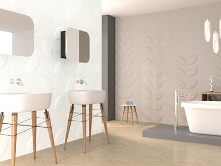 : minimalistic Bathroom by DUNE CERAMICA