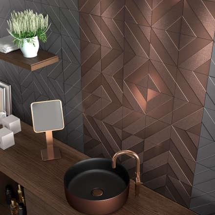 : modern Bathroom by DUNE CERAMICA